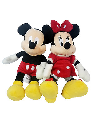 Disney Mickey & Minnie Mouse Plush Doll Toy Disney Collections 9""