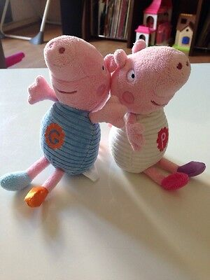 Peppa Pig & George Chime Rattle Soft Baby Toy