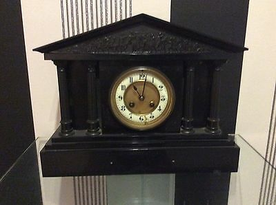 Marti French Marble Case Striking Mantle Clock Architectural Form- Collection