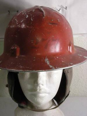 Vintage Jackson  Beat Up Looking Red Hard Hat With Zero Hood Liner