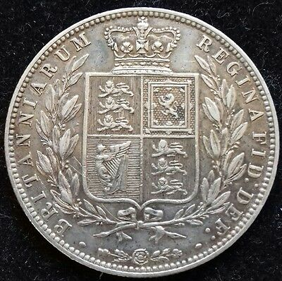 1878 Half Crown. Nice Very Fine. S.3889. Victoria British Silver