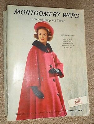 Vintage 1961 Montgomery Ward Fall & Winter  Department Store Catalog