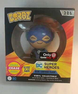 CHASE Gamestop Exclusive Blue Lantern Flash Dorbz Funko Vinyl Figure DC Comics