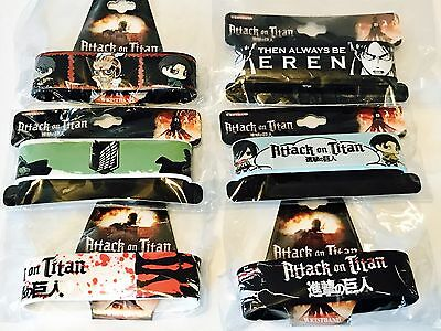 Attack On Titan AoT NEW PVC WRISTBANDS Licensed Bracelet Authentic LOT OF 6