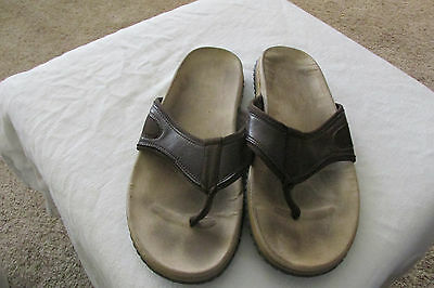 *ISLAND REPUBLIC* Mens Leather Flip Flop Sandals Shoes 11 Summer Spring Shoes
