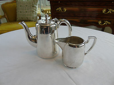 Vintage Hotelware Small Coffeepot and Creamer