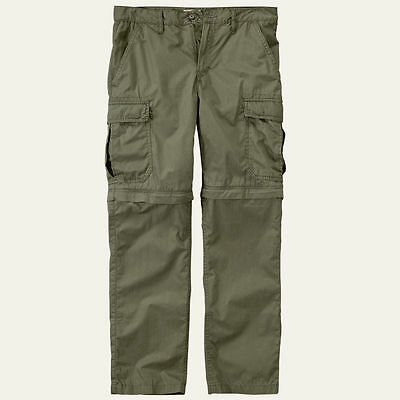 Timberland Men's Ivanhoe Lake Zip-Off Olive Hiking Pants / Shorts 6934J