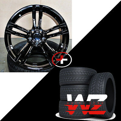 """20"""" 437 Style Wheels Tires Gloss Black Fits BMW 3 4 5 6 Series 128 325"""