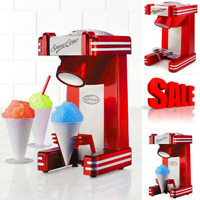 Retro Snow Cone Maker Machine Electric Sno Ice Shaver Crusher Slushy Nostalgia