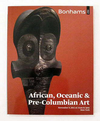 AFRICAN OCEANIC PRE-COLUMBIAN ART Bonhams 2011 Tribal Primitive Sculpture Masks