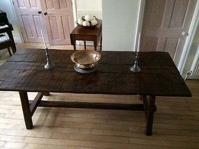 Large Oak Dining/Refectory Table
