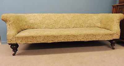 Great Antique Victorian Sofa With Fabulous Large Walnut Legs