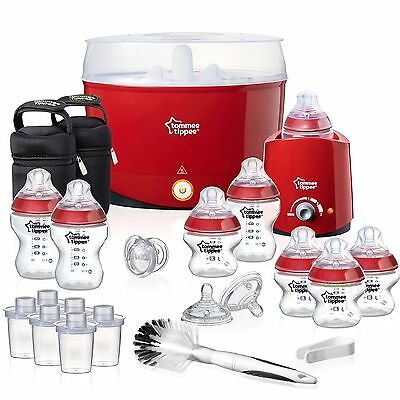 NEW Tommee Tippee Closer To Nature Essentials Kit Limited Edition (RED)