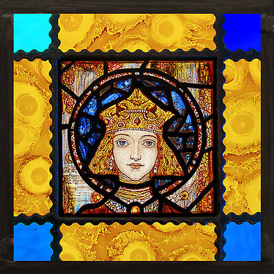 Saint Elisabeth stained glass, kilnfired stained glass, classic stained glass