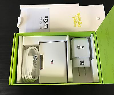 LG G5 EMPTY RETAIL BOX COMPLETE w/ FULL NEW ACCESSORIES CHARGER USB CABLE MANUAL