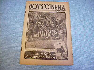BOYS CINEMA  issue 158 1922 includes photo of JACK DEMPSEY