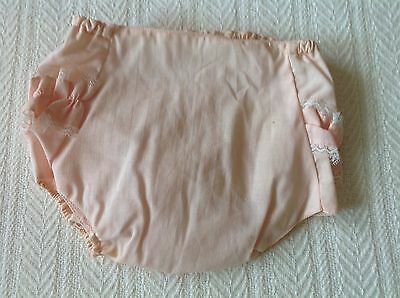 Vintage Baby Diaper Cover, Plastic Pants, Ruffled Pink