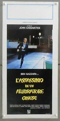 XR66 THE KILLING OF A CHINESE BOOKIE JOHN CASSAVETTES GREAT orig ITALIAN POSTER