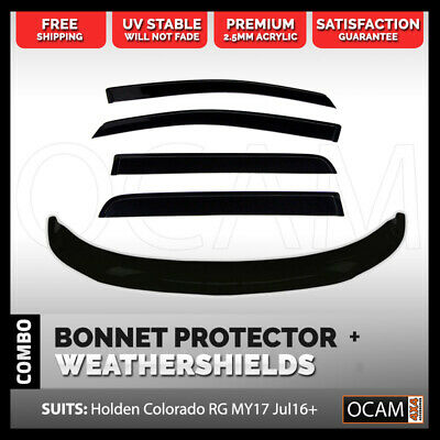 Bonnet Protector & Weathershields For Holden Colorado RG MY17 Jul16+