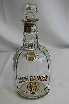 """Vintage Jack Daniels Decanter Old No. 7 With """"Bourbon""""  Chain and Pendant"""