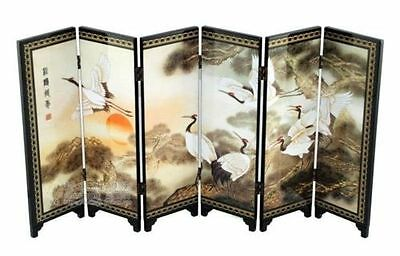 Chinese exquisite Painting Beautiful Folding Screen Songhe pattern