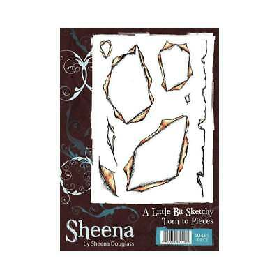 Sheena Torn to Pieces A Little Bit Sketchy A6 Unmounted Rubber Stamp SD-LBS-PIEC