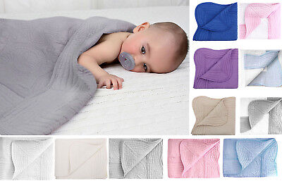 """Comfortable r Baby Crib Quilt 100% Cotton 36"""" x 48"""" Quality Blanket"""