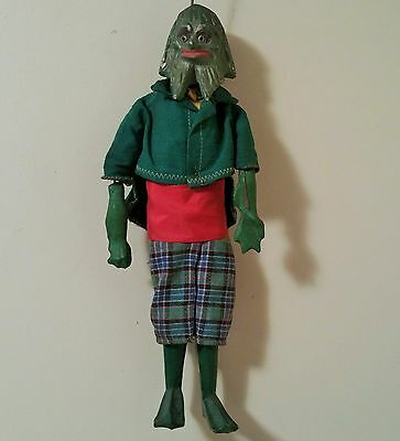 CREATURE FROM THE BLACK LAGOON vtg wood puppet monster movie gillman marionette