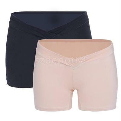 Womens 2pieces No Chaffing Maternity Shorts Pregnancy Boyshorts Under Bump Trunk