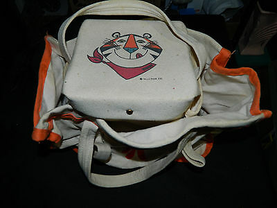 Vintage Original 1960's Kellogg's Frosted Flakes Canvas Picnic Carry Bag - Rare!