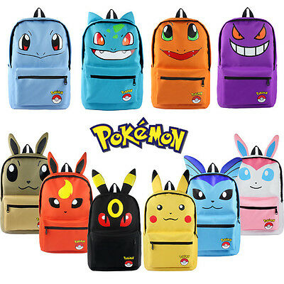 Pokemon Go Pikachu Espeon School Backpack Bag Book Bag Cosplay Cute With Ear Bag