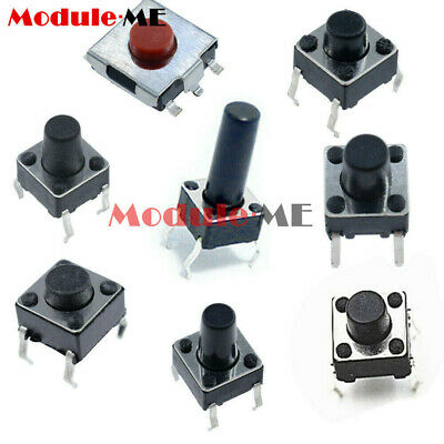 100PCS 6x6 3.1mm-13mm SPST Mini Micro Momentary Tactile Push PCB Button Switch M