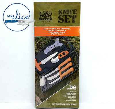 Buffalo River Game Processing 8 Piece Knife Set - GREAT VALUE!