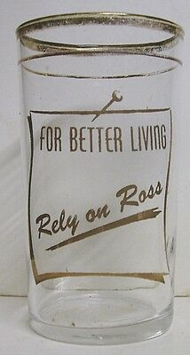 1950's Ross-Common Soda Glass - Ross-Common, PA