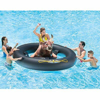 Inflat-A-Bull Huge Inflatable Pool Toy Bull Riding Kids Balance Game Adult Rodeo