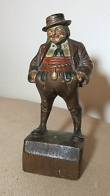 antique hand carved painted wood German man sculpture figure statue Folk Art