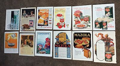 VINTAGE Lot of 12 Magazine Advertising Kitchen Mazola Campbell Wesson Del Monte