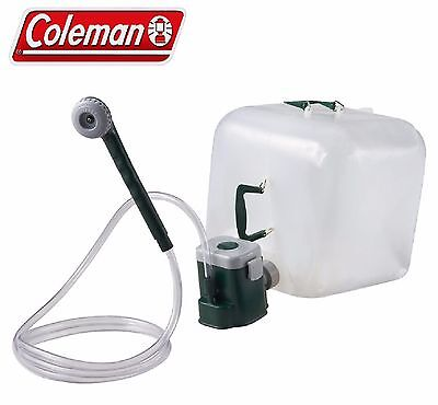 Coleman Portable Shower Water Carrier Kit With Motor Pump Camping Picnic Outdoor