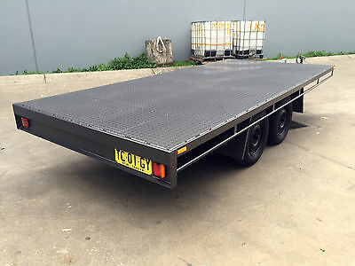 Budget Unpainted Table Top Flat bed Trailer TANDEM AXLE 14X6FT 2T 10ft 16ft avai