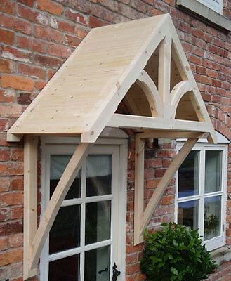 """Timber Front Door Canopy Porch, """"BLAKEMERE"""" Shropshire awning canopies"""