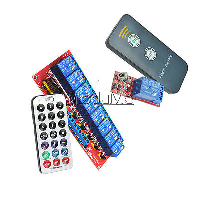 1/8 Channel Infrared Remote Control Switch Relay Multi-function 5/12V LED NEW MO