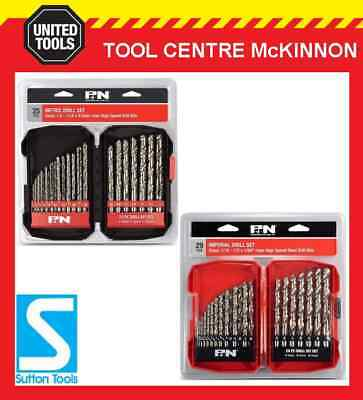 "FROST BY SUTTON 54pce METRIC & IMPERIAL DRILL SETS (1.0 – 13mm  & 1/16"" – 1/2"")"