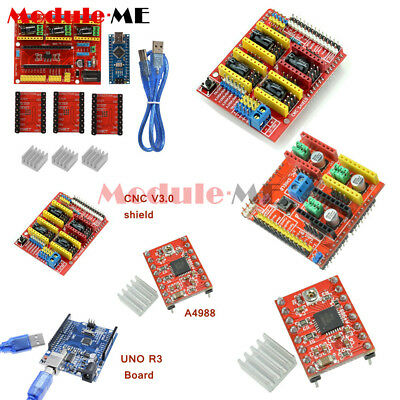 CNC Shield V2/V3/V4 Engraver 3D Printer Expansion Board A4988 Driver F Arduino M