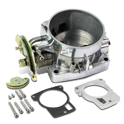 85Mm Aluminum High Flow Intake Polish Throttle Body For 98-02 Camaro Ls1 5.7 V8