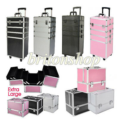 Panana Make Up Case Hairdressing Vanity Beauty Cosmetic Box Trolley Extra Large
