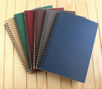 A5 Kraft cover Spiral Notebook Wirebound 60 Sheets 100gsm writing paper