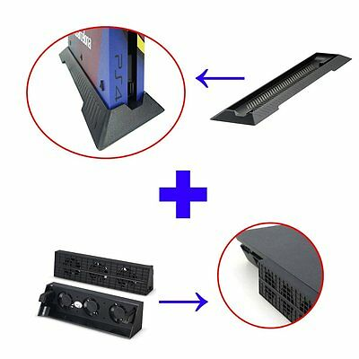 PS4 Slim Esterno Super Ventola & Stand Holder Base kit per SONY PS4 Slim
