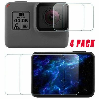 GOPRO Hero 6/5 Action Camera Screen & Lens Protector Tempered Glass GOPRO 4-Pack
