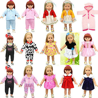 DIY Doll Clothes Dress for 18 inch Doll Baby Kids Gifts Skirt Party Clothes New