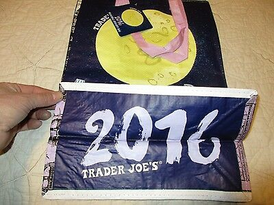TRADER JOE'S  Shopping Bag Grocery  REUSABLE 2016 NEW YEARS  RARE